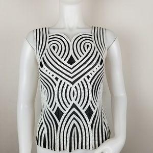 Alexandra Rosati Sleeveless Ribbon Detail Blouse